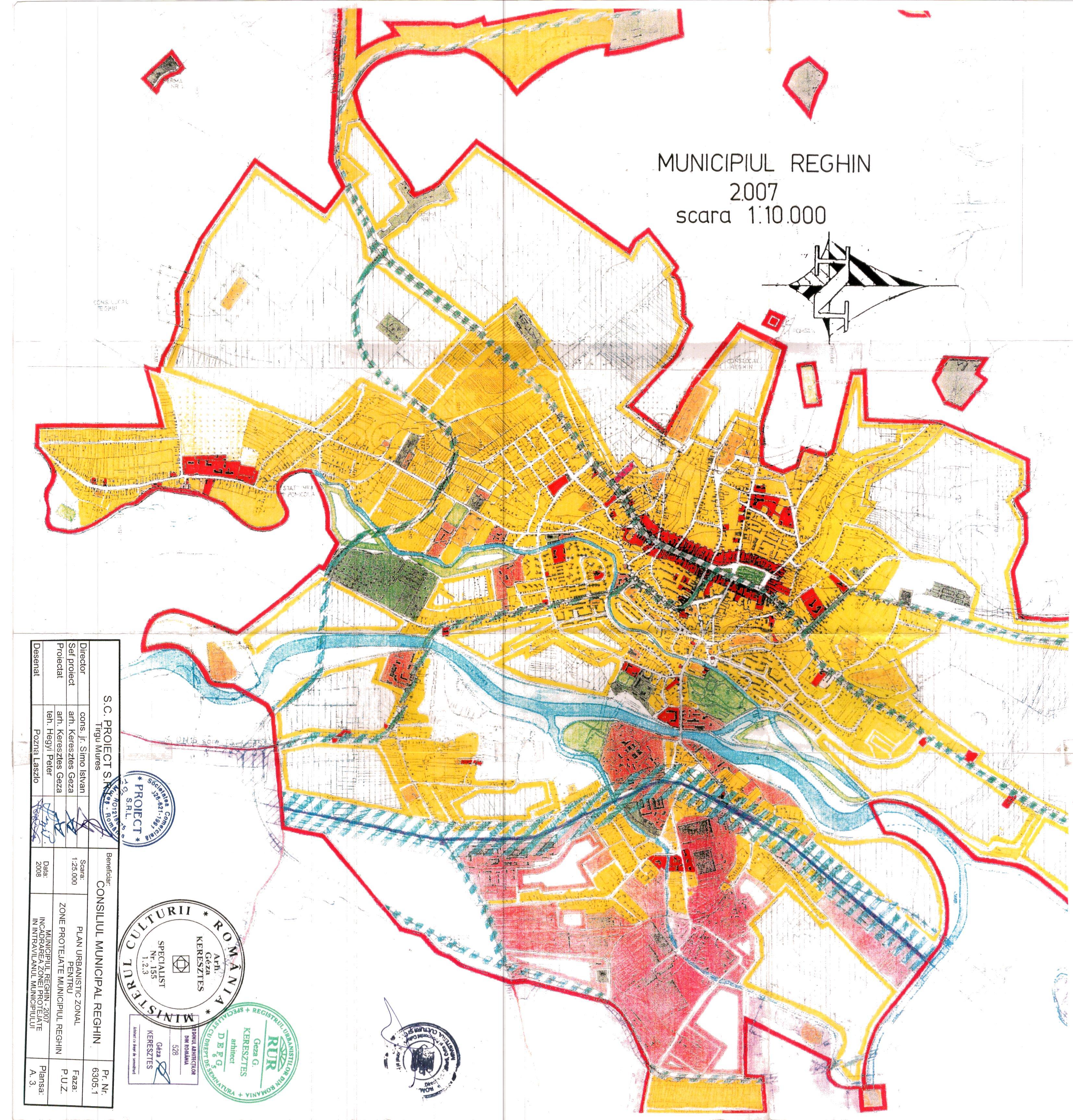 Plan Urbanistic General Primaria Reghin
